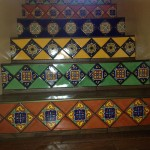 Staircase with Mexican Tile